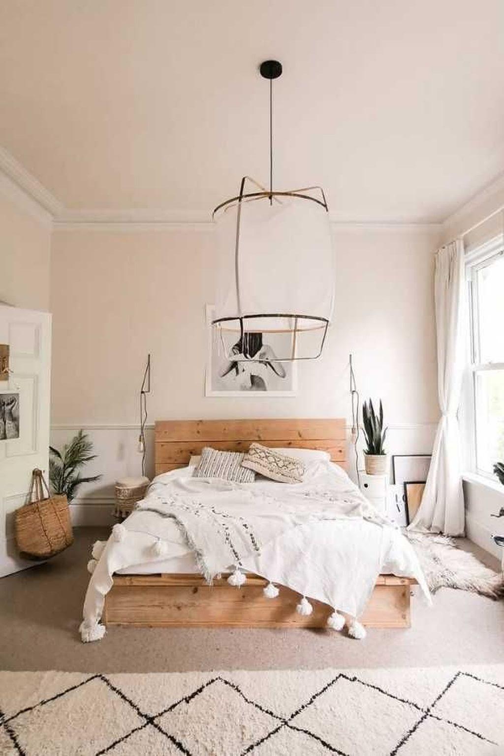 quarto de casal decoração estilo escandinavo