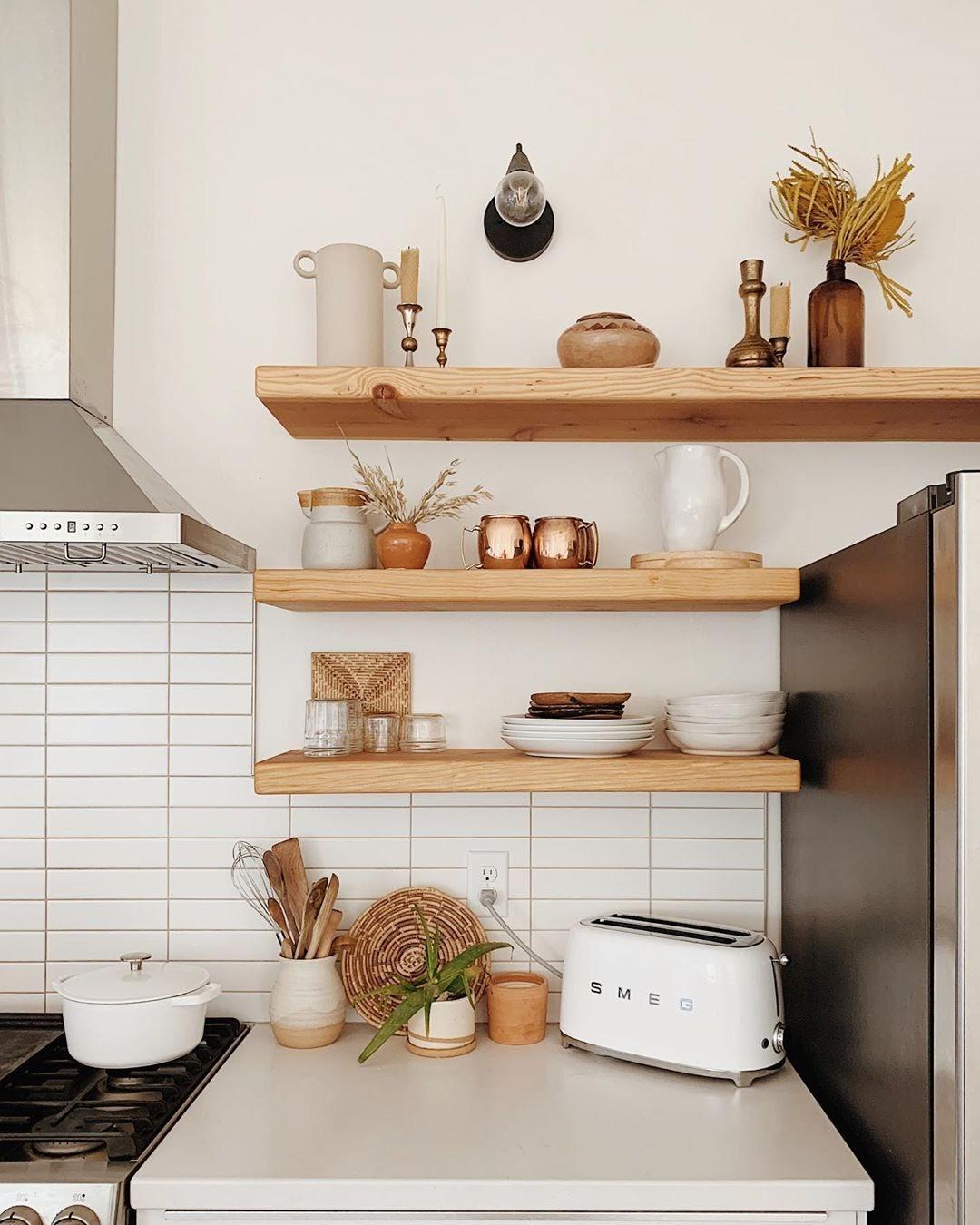 cozinha prateleira madeira