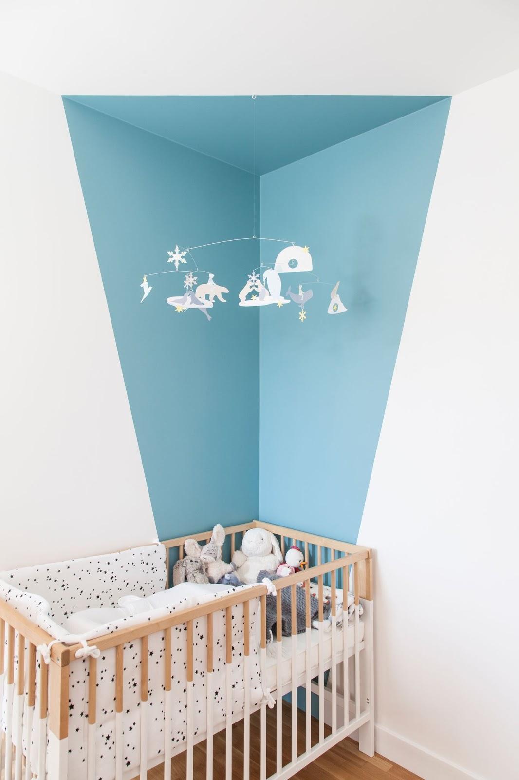 quarto infantil parede pintura geométrica
