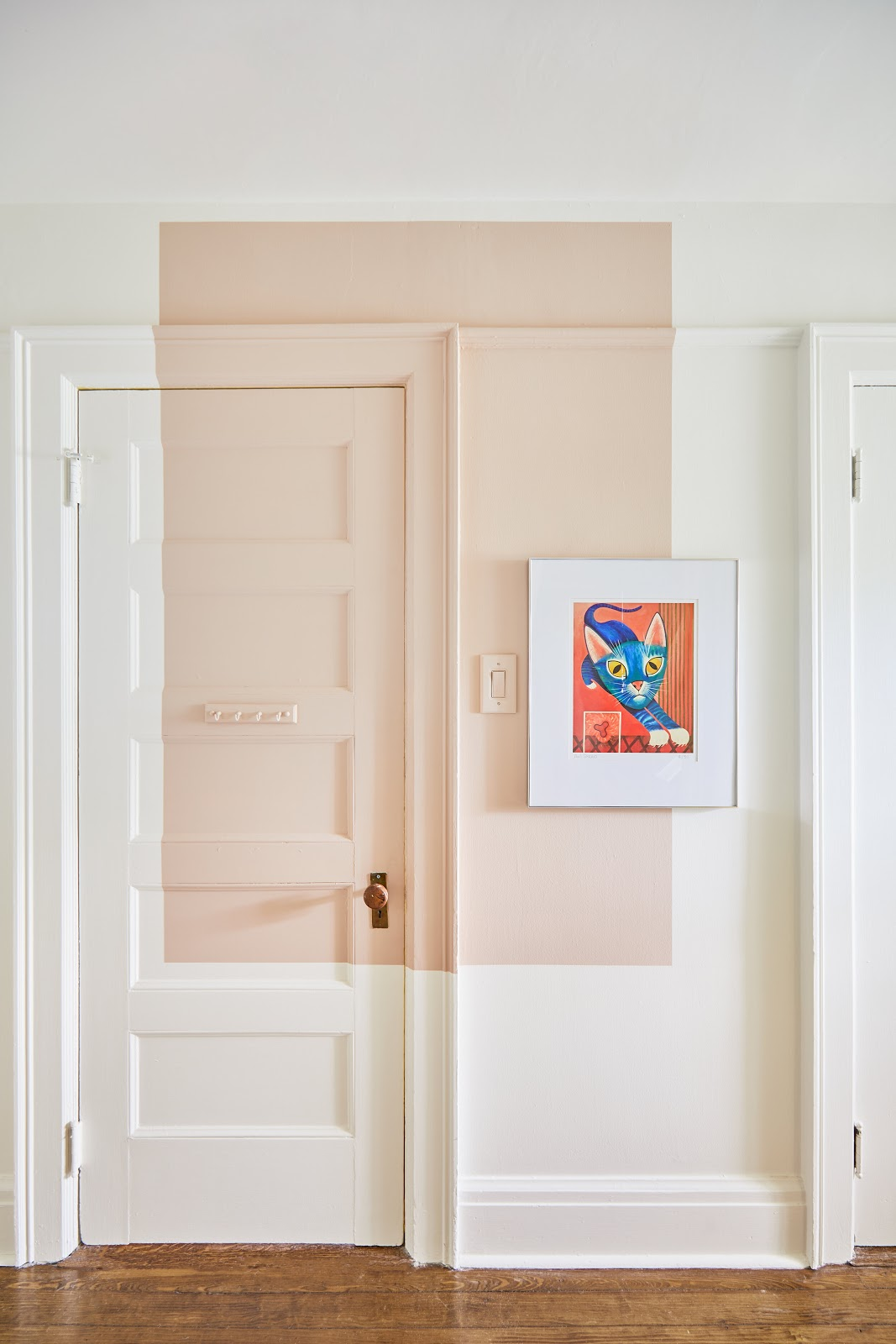 pintura geométrica porta