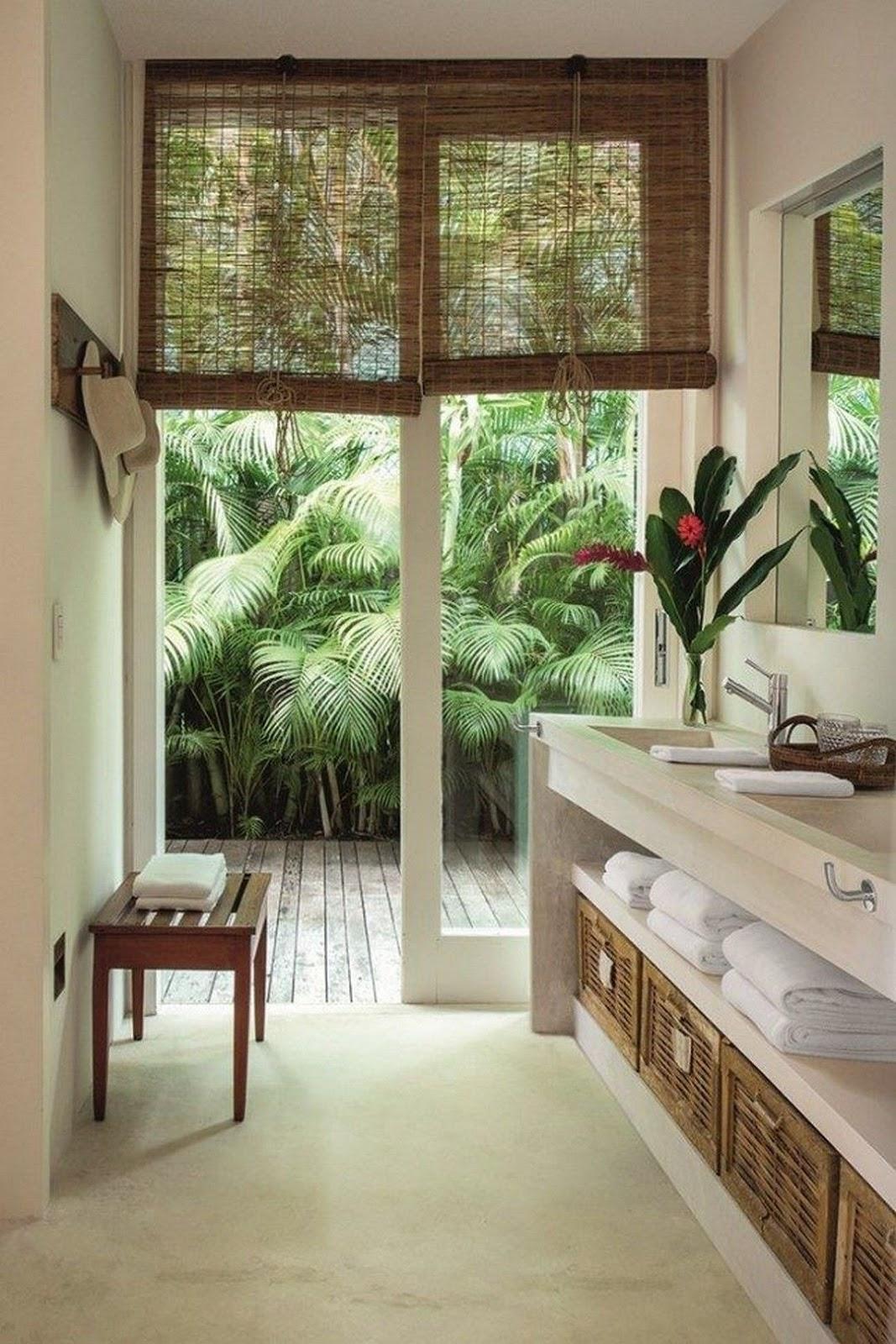 banheiro decoração tropical