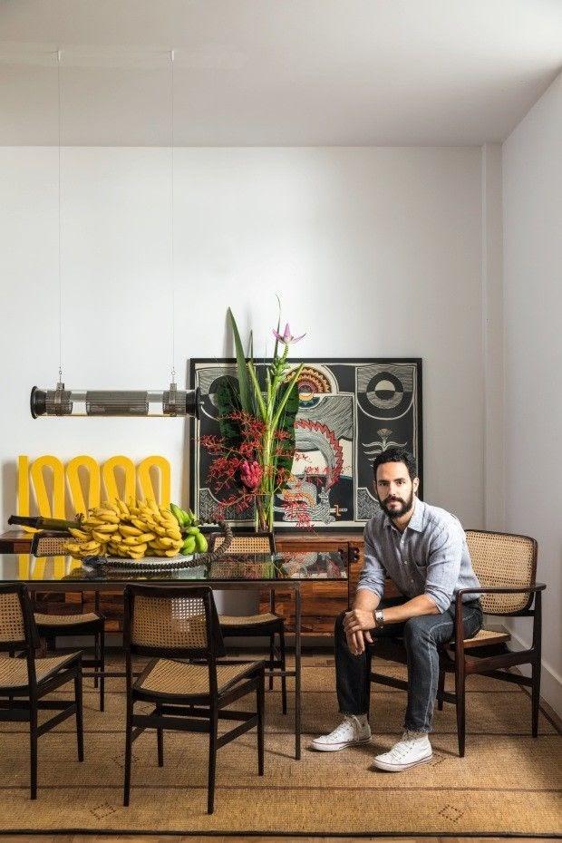 sala de jantar decoração tropical