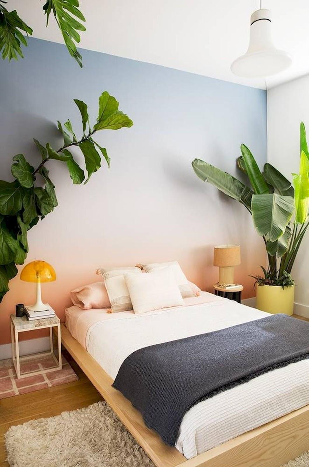 quarto decoração tropical