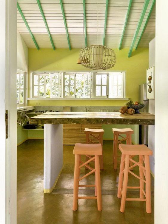 cozinha decoração tropical