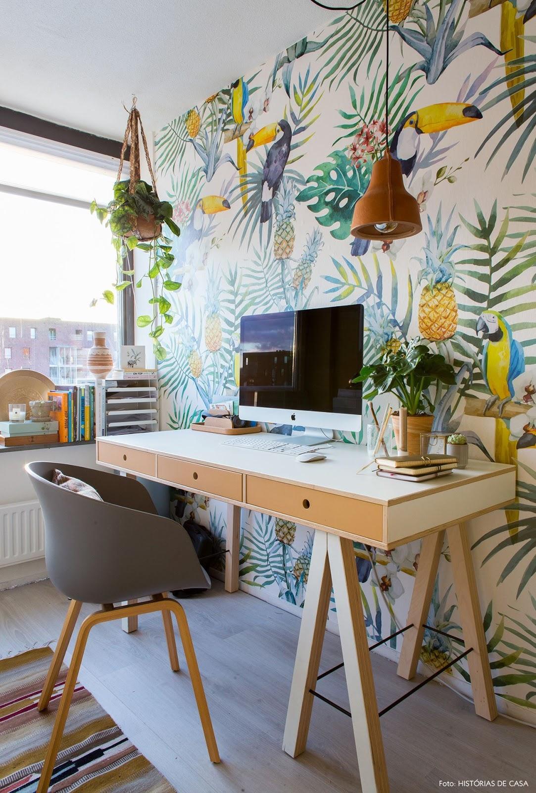 home office decoração tropical