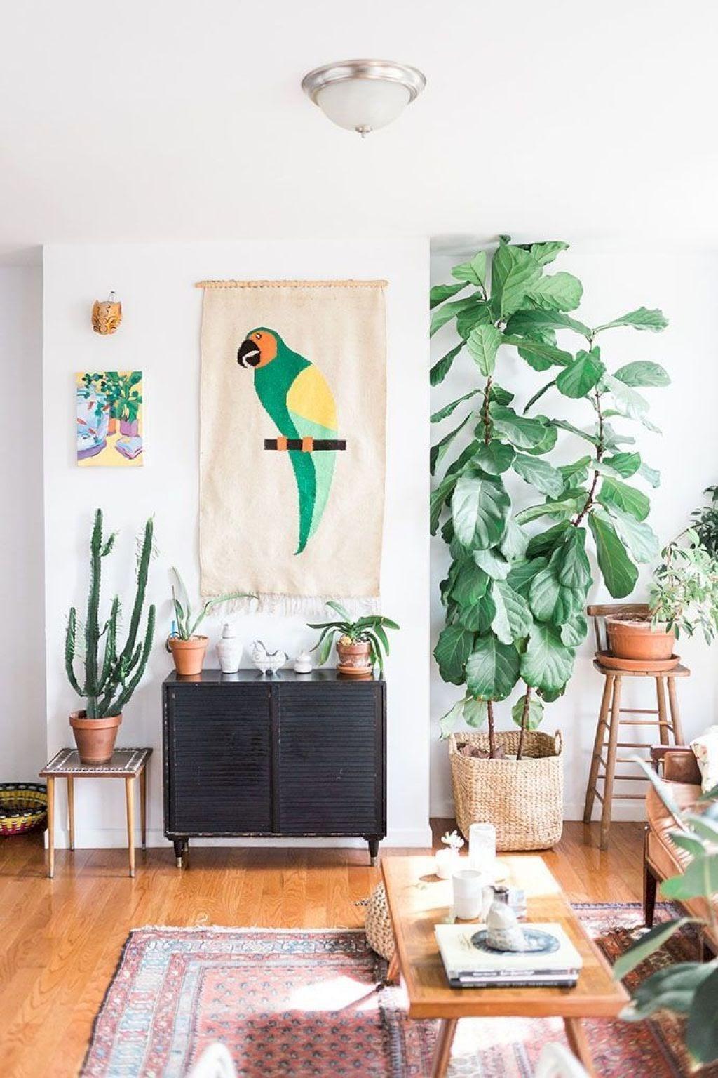 sala decoração tropical
