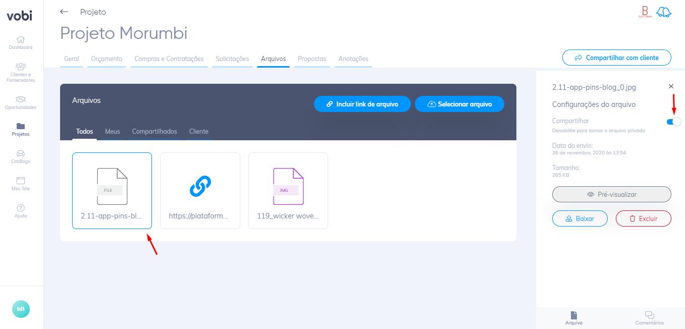 ferramenta gestão de projetos Vobi