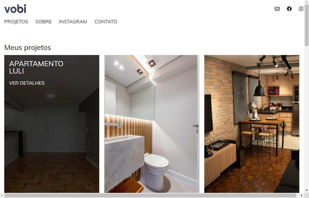 Site para escritório de Arquitetura