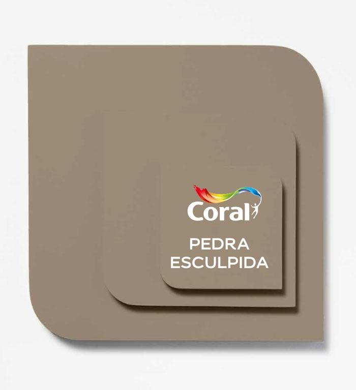 cor 2021 coral Pedra esculpida