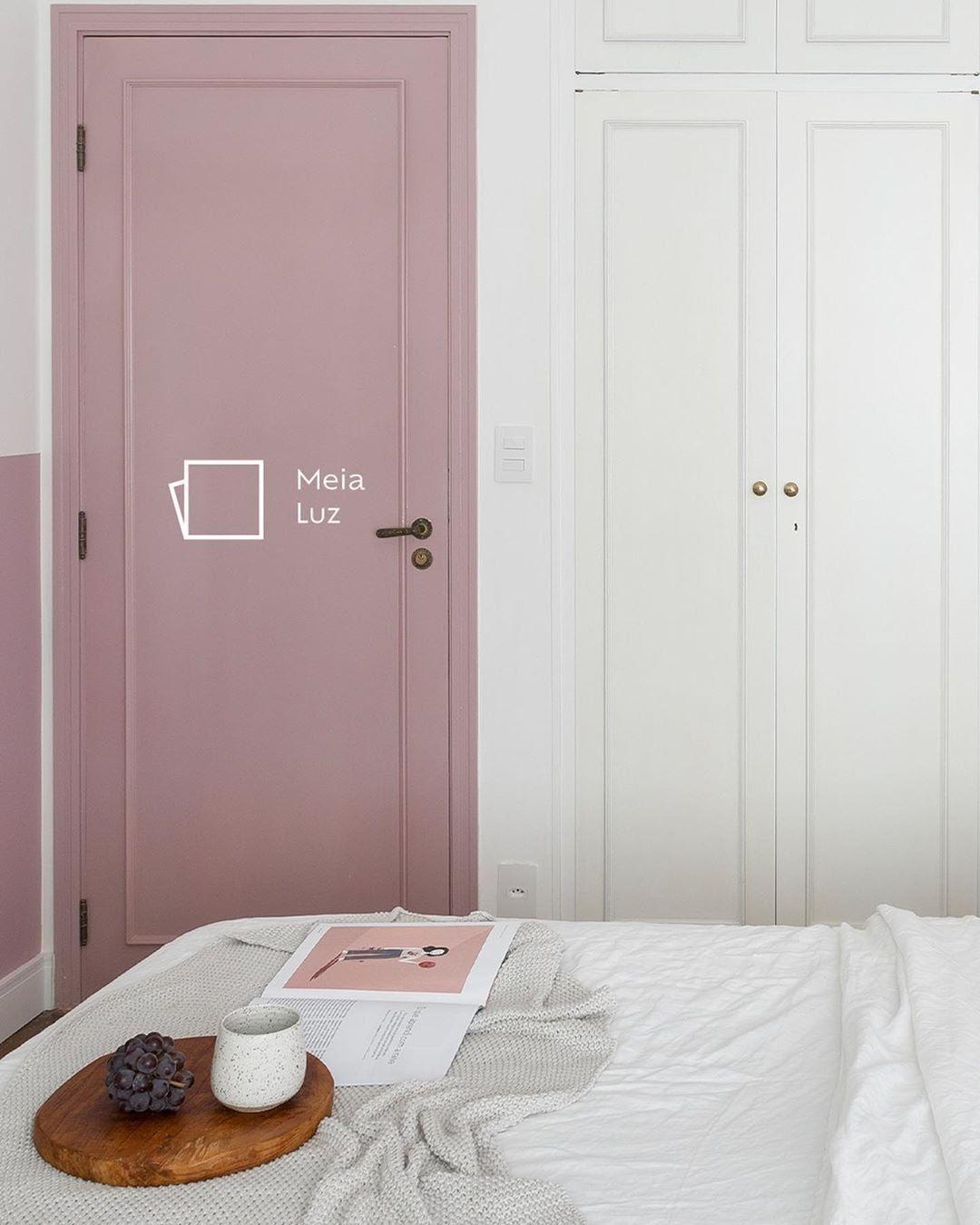 porta colorida rosa