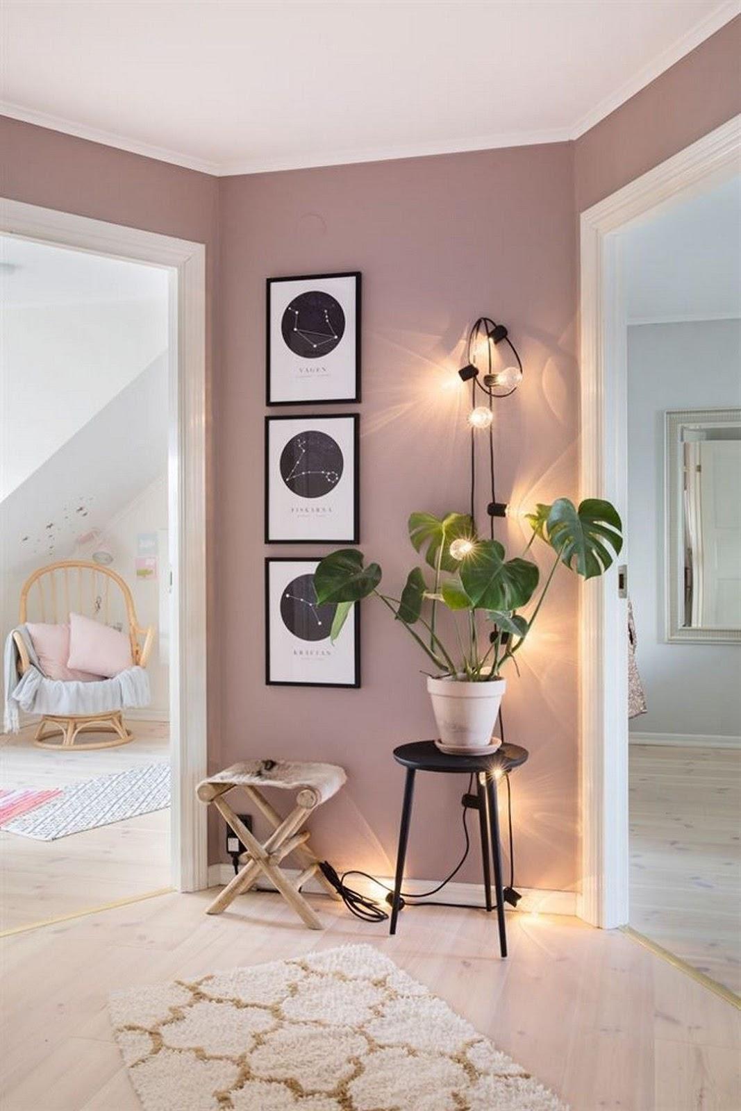 parede colorida rosa queimado