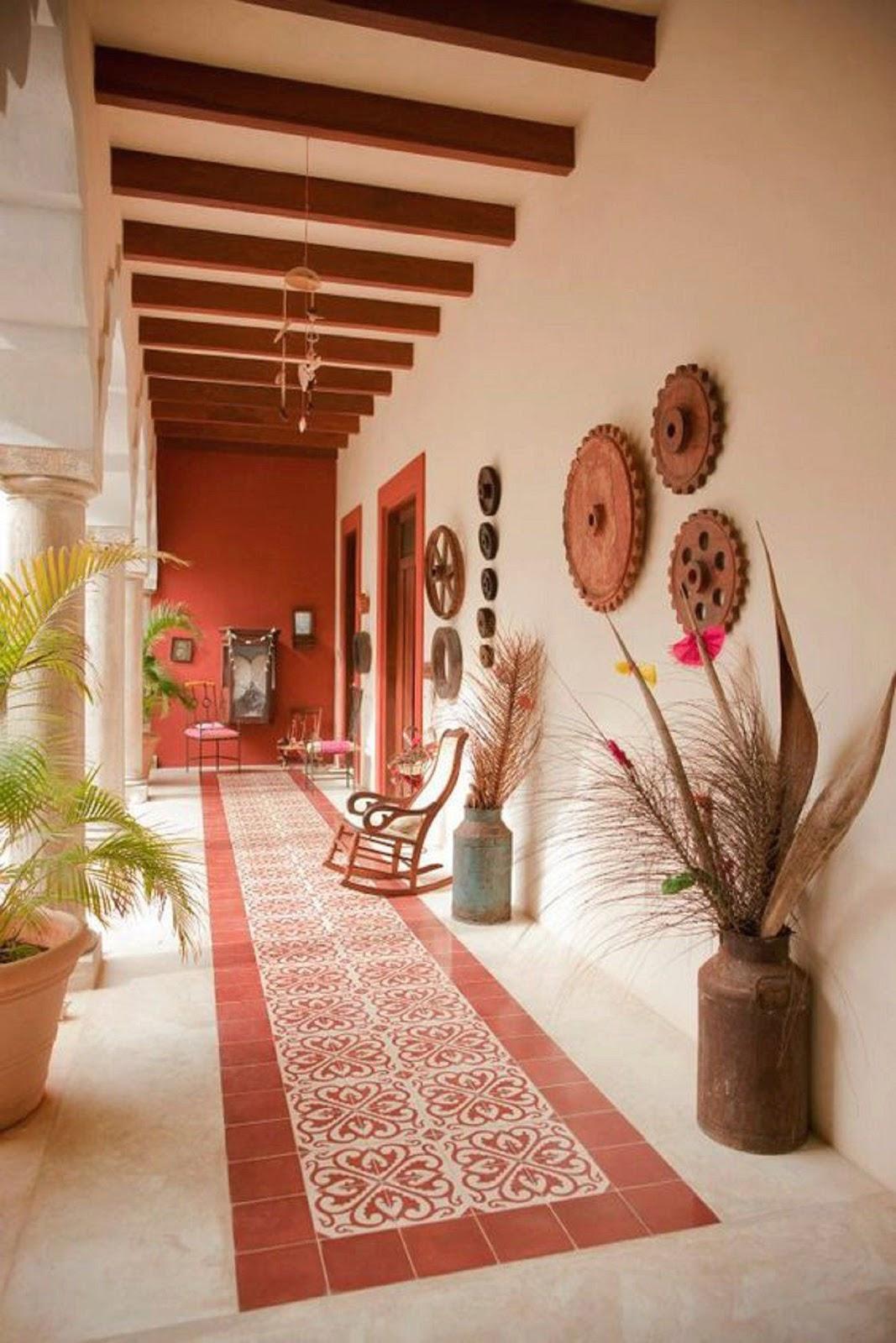casa decoração com elementos naturais