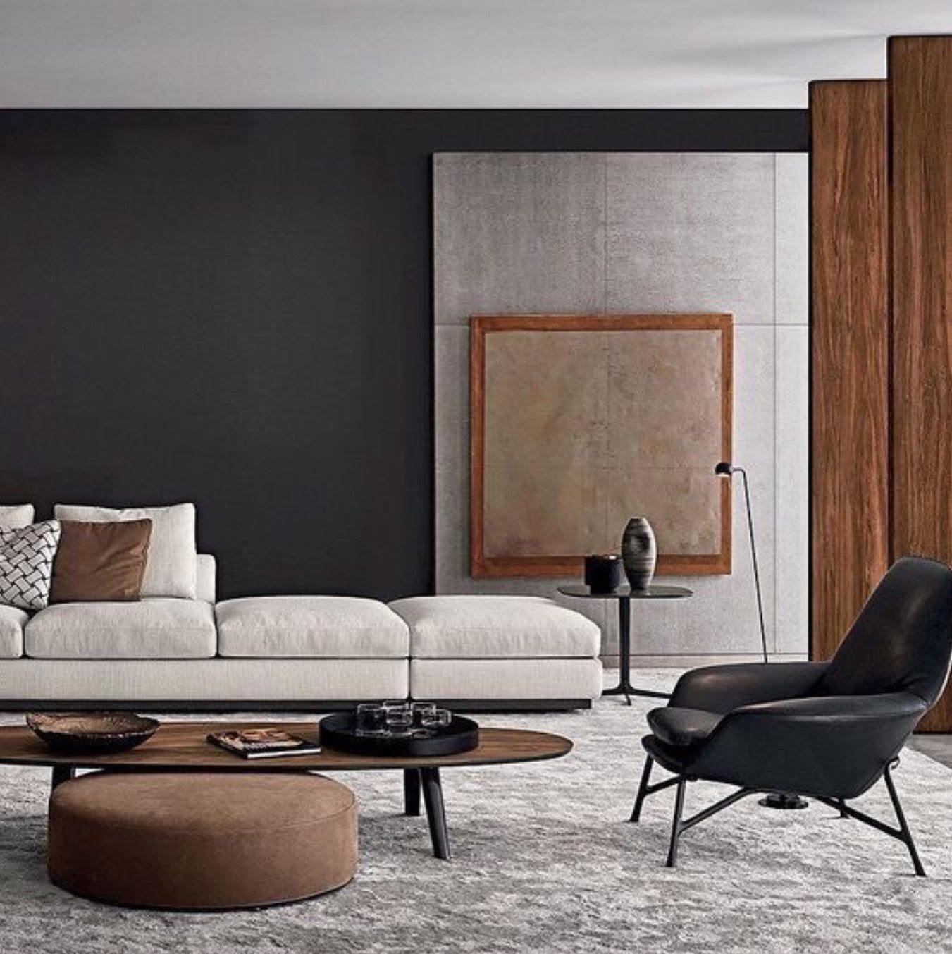 sala de estar estilo japandi