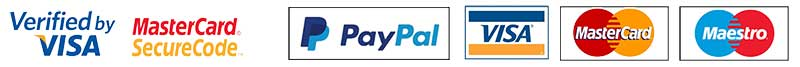 Credit card logos of acceptable payments