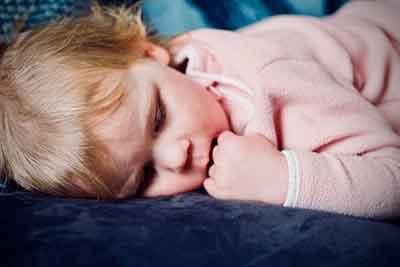Sleeping Baby after using Like a Log sleep spray