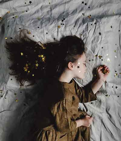 Sleeping Child after using Alibilis Like a log sleep spray