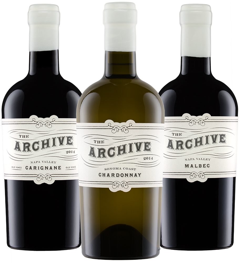 Three Archive Wines Bottles