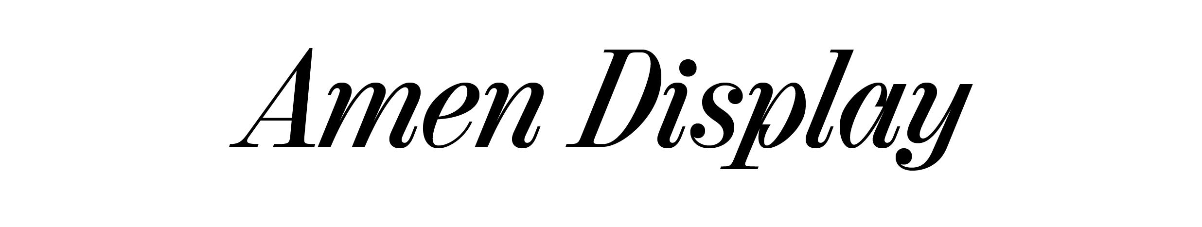 Amen Display Italic