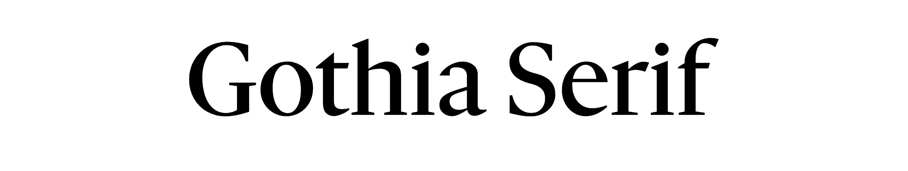 Gothia Serif
