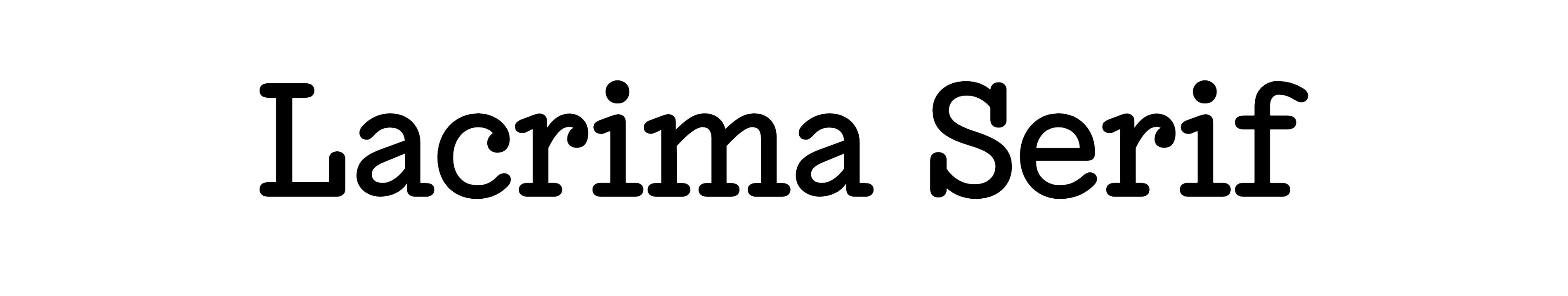 Lacrima Serif
