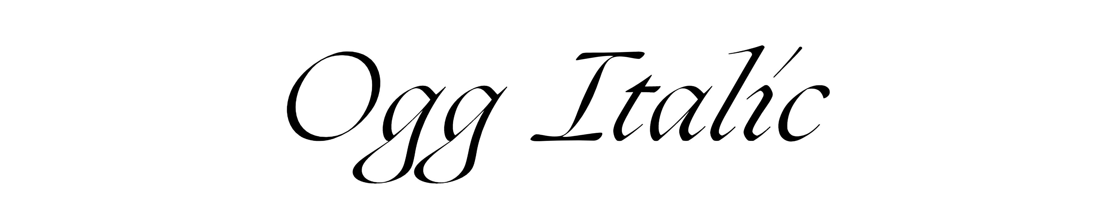 Ogg Italic