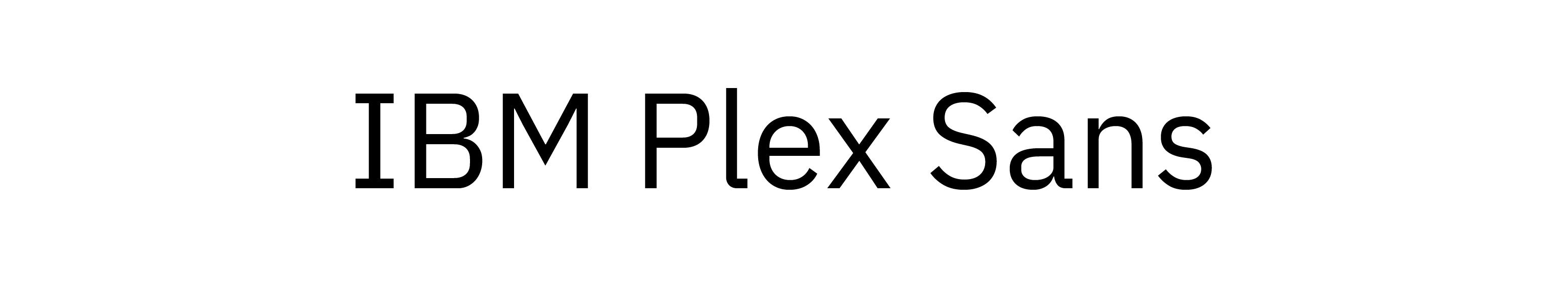 IBM Plex Sans