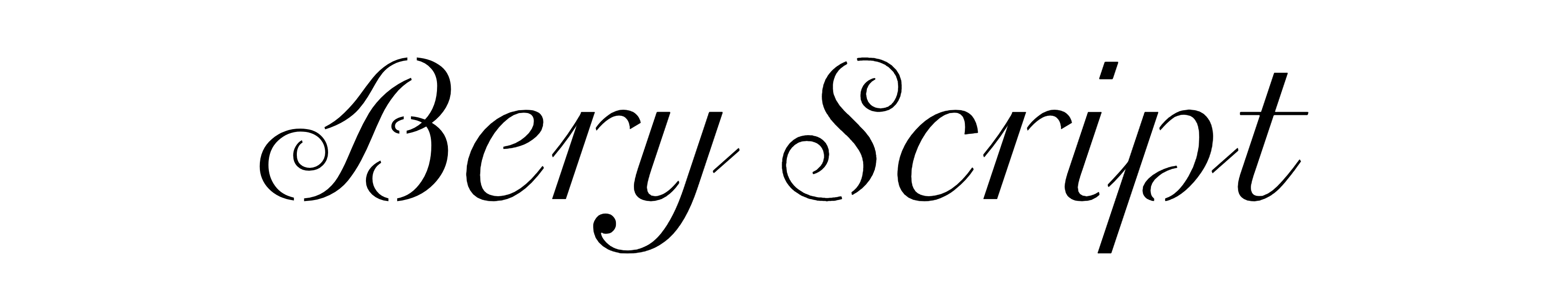 Bery Script (Stencil)