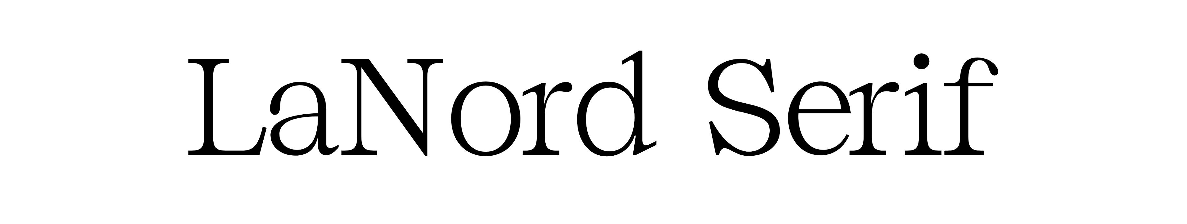 LaNord Serif