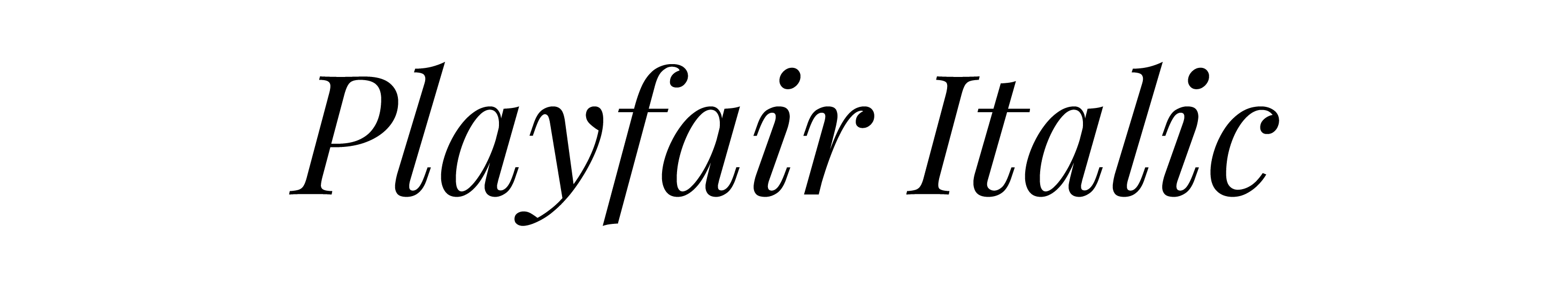 Playfair Italic