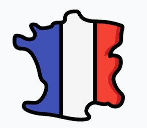 Map of France icon image.