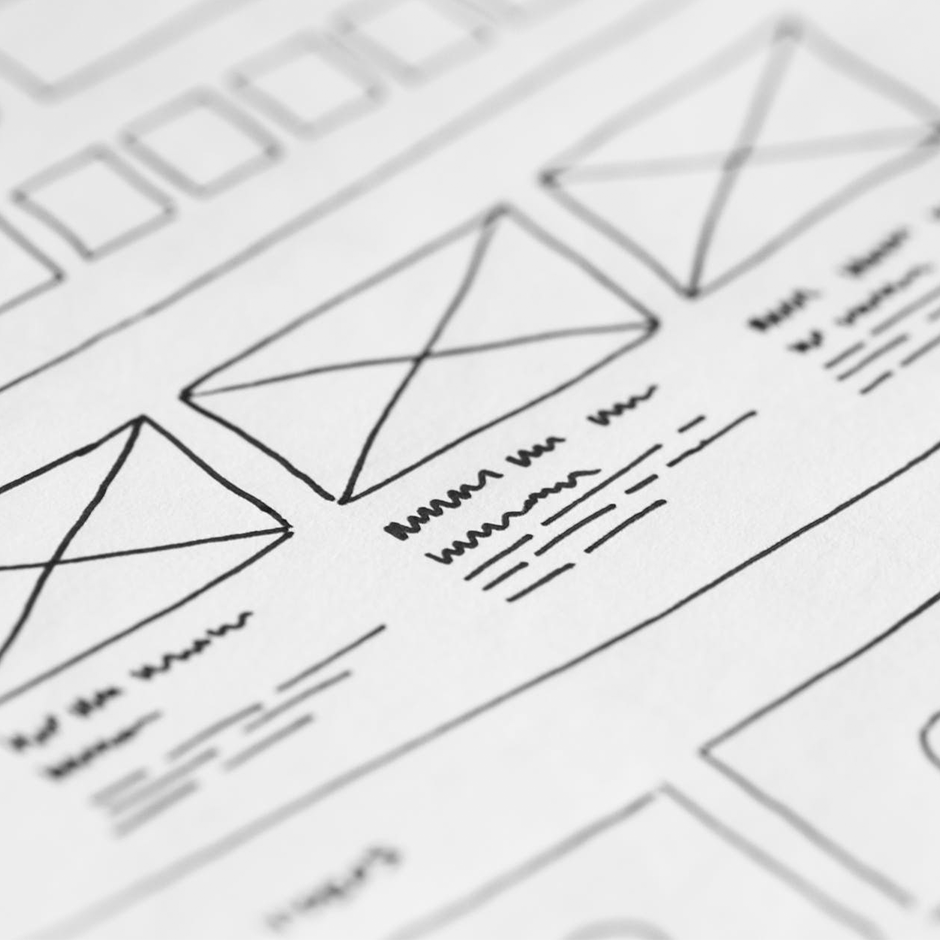 Sketches of UX design