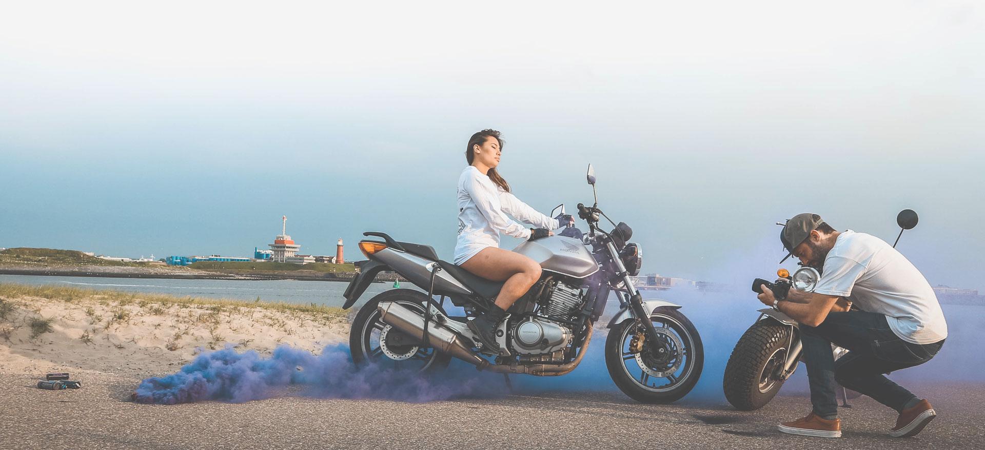Motorbike videoshoot