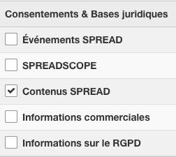 choix des consentements RGPD pour un emailing