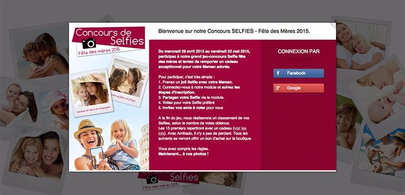 image de marque concours photos selfies