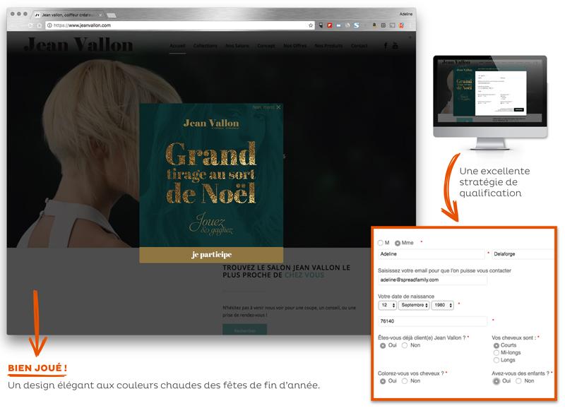 Opération marketing Noël Jean Vallon