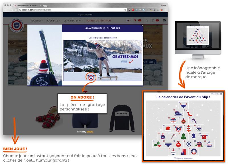 Opération marketing Noël Le Slip Français