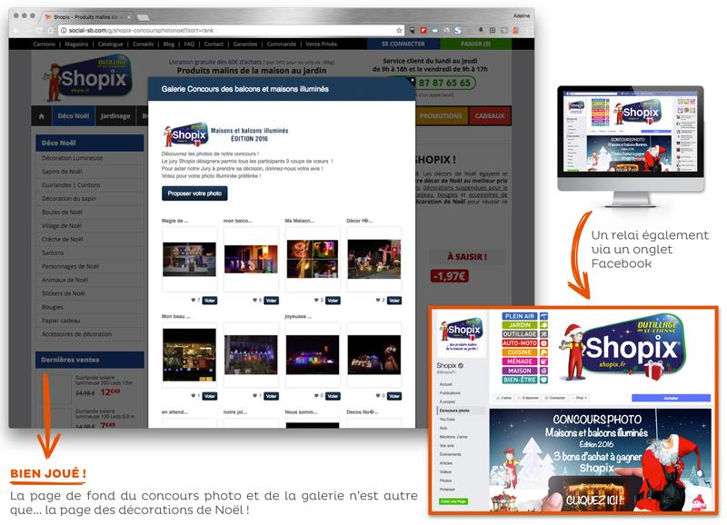 Opération marketing Noël Shopix