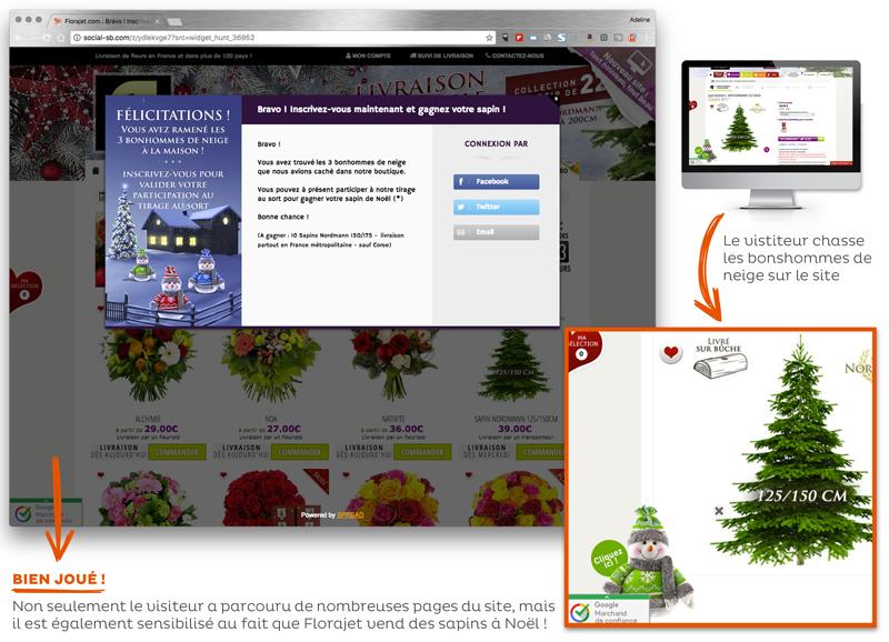Opération marketing Noël Florajet