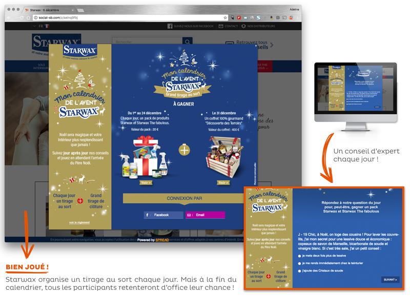 Opération marketing Noël Starwax
