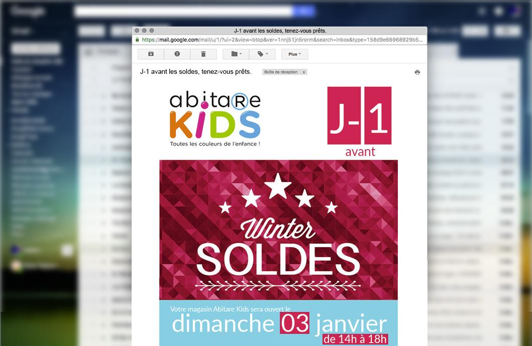 Newsletter Abitare Kids soldes