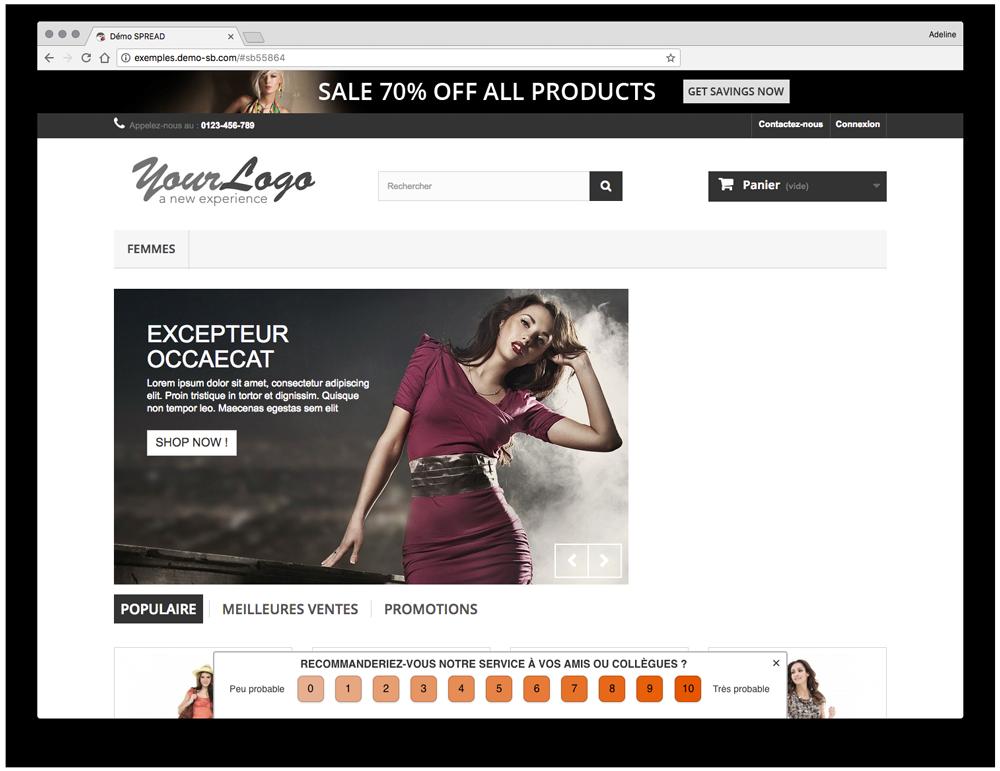 nps widget spread net promoter score