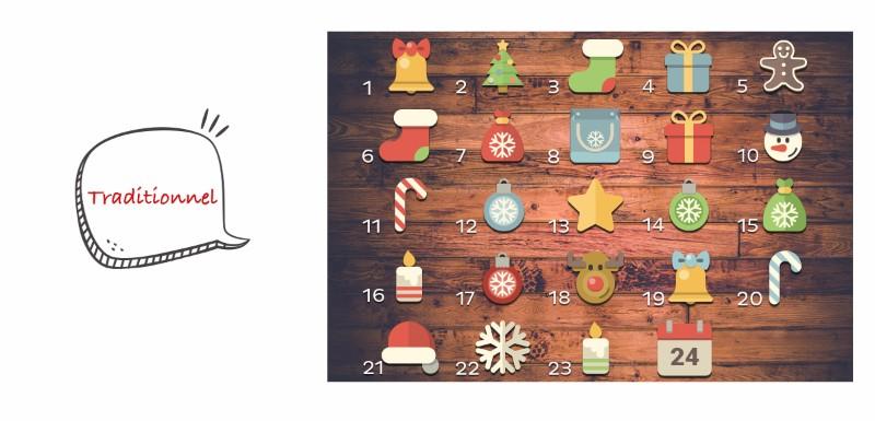 calendrier de l'avent traditionnel