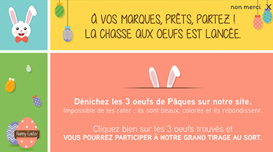 operation marketing paques chasse aux oeufs