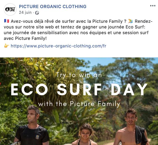 stratégie marketing e-commerce acquisition picture organic clothing