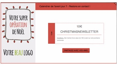Exemple souscription newsletter recompensee