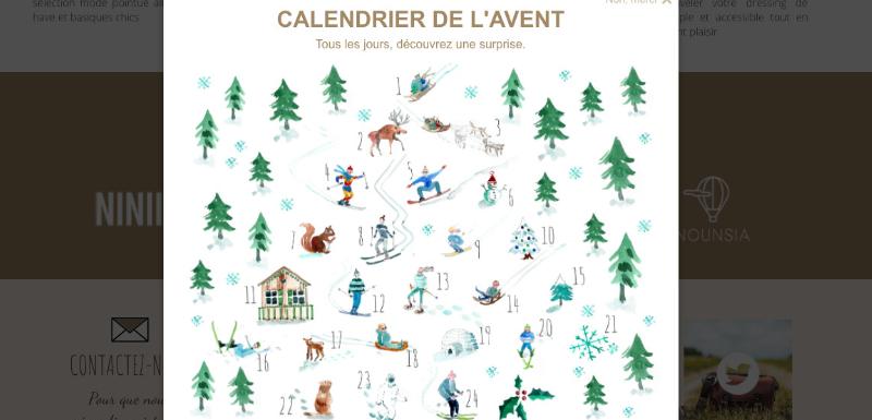 calendrier de l'avent marketing de fin d'année