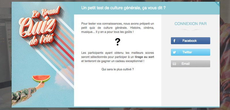 opération marketing quiz été