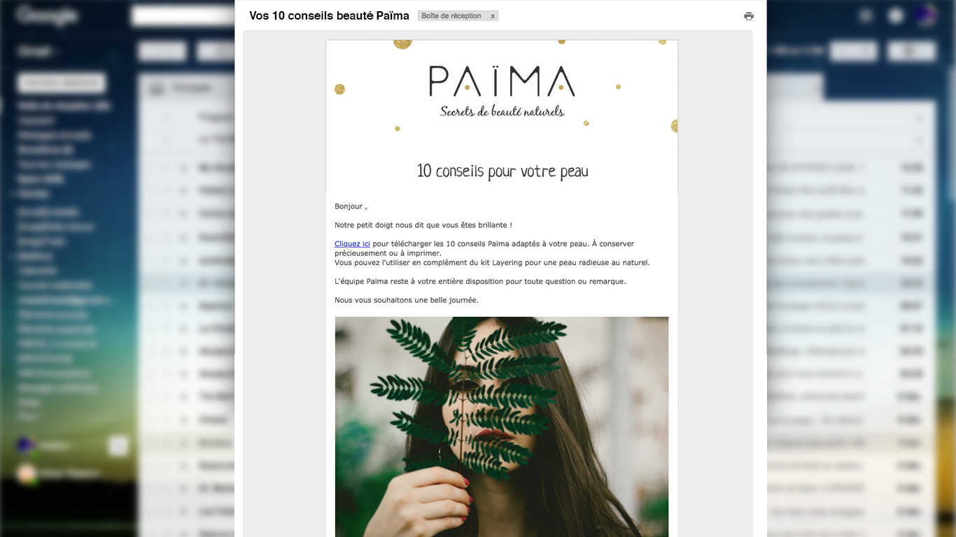 scénarios automatisés Païma connaissance client