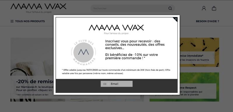 inscription newsletter embasement mamawax