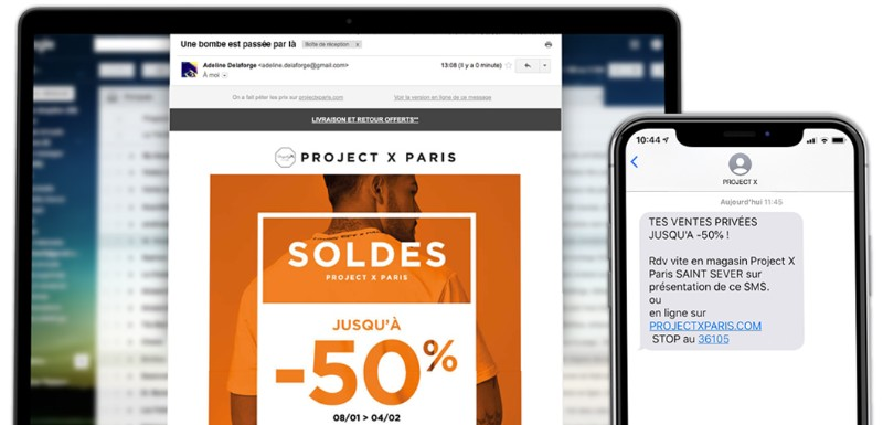 outils crm marketing ecommerce newsletter sms soldes projectxparis